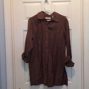 Brown Linen Shirt